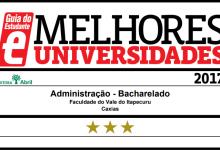 Curso de Administração da FAI recebe selo de qualidade do Guia do Estudante